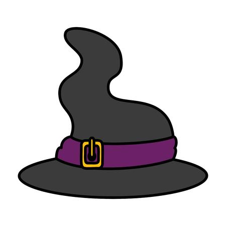witch hat halloween icon vector illustration design Illustration