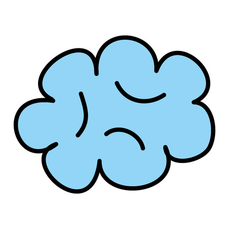 cute cloud drawing icon vector illustration design