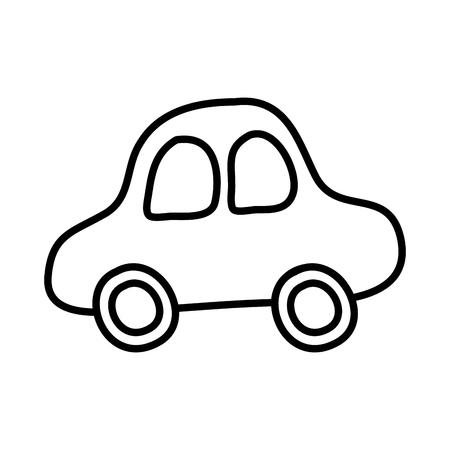 schattig auto tekening pictogram vector illustratie ontwerp