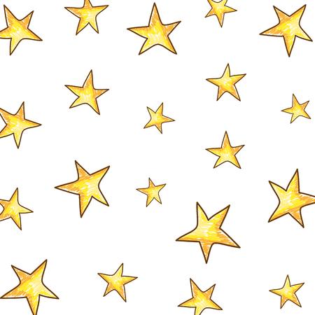 cute stars drawing pattern vector illustration design
