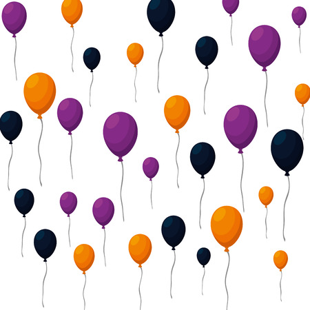 balloons helium floating pattern vector illustration design