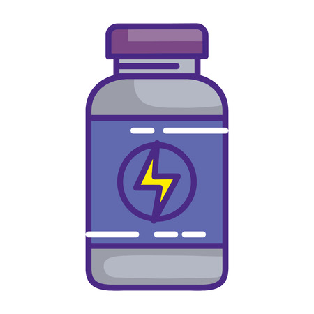 protein bottle healthy icon vector illustration design