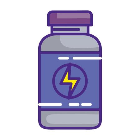 protein bottle healthy icon vector illustration design