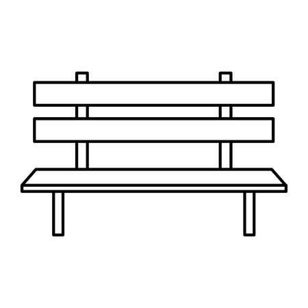 park chair wooden icon vector illustration design 스톡 콘텐츠 - 109876370