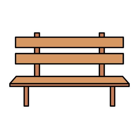 ontwerp van de het pictogram vectorillustratie van de parkstoel het houten