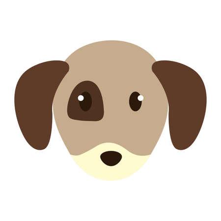 cute little dog head character vector illustration design Foto de archivo - 109895482