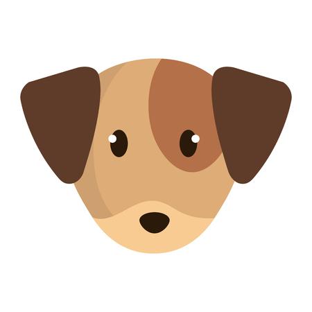 cute little dog head character vector illustration design