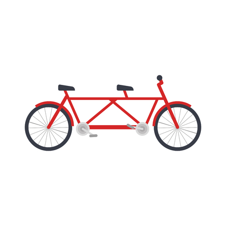 tandem bicycle vehicle icon vector illustration design