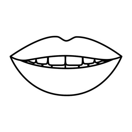 female lips isolated icon vector illustration design 向量圖像