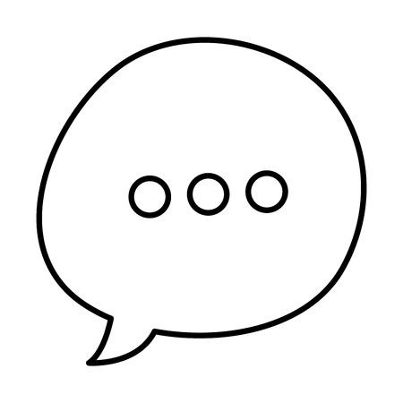 speech bubble message icon vector illustration design Ilustração