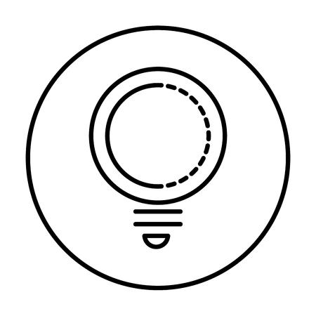 bulb light idea icon vector illustration design