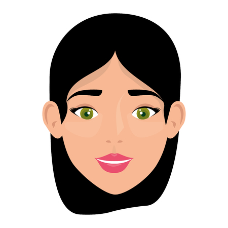 beautiful woman face character vector illustration design