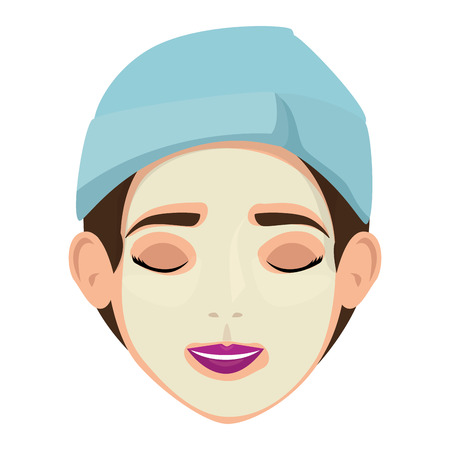 beautiful woman in treatment facial vector illustration design Archivio Fotografico - 109895756