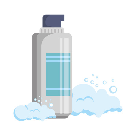 foam bottle with facial product vector illustration design