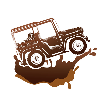 coffee car transportation icon vector illustration design Reklamní fotografie - 109895980