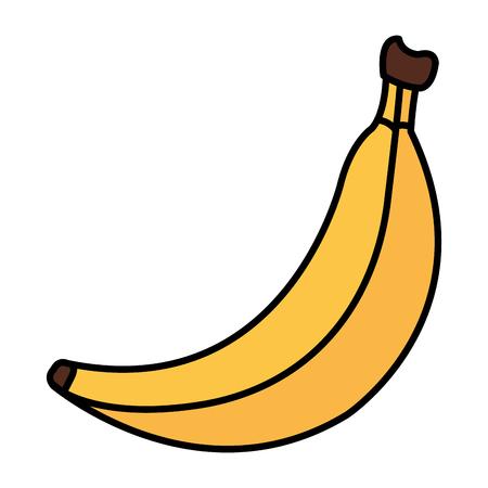 banana fresh fruit icon vector illustration design