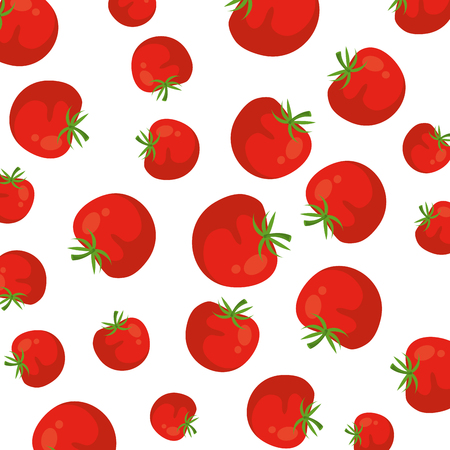 tomato fresh pattern background vector illustration design Stock Illustratie
