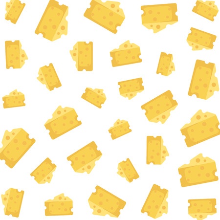 cheese pieces patetrn background vector illustration design