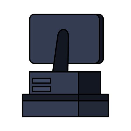 supermarket sale point machine vector illustration design Illustration