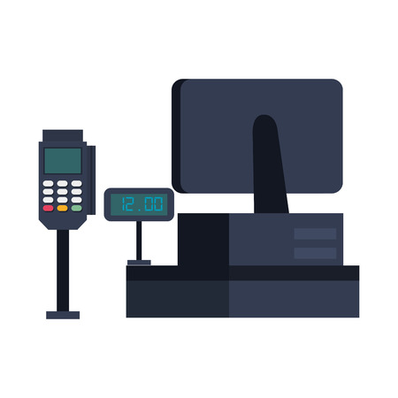 supermarket sale point machine vector illustration design Illustration