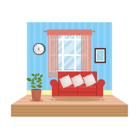 home livingroom place scene vector illustration design Stock Vector - 109896266