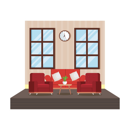 home livingroom place scene vector illustration design Vectores