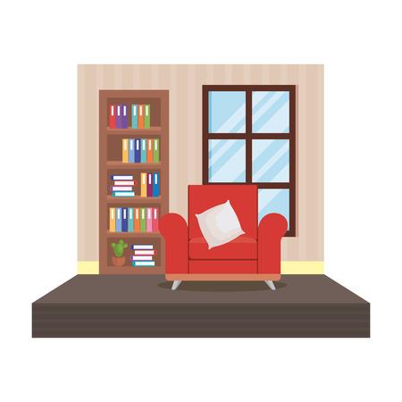 home livingroom place scene vector illustration design Foto de archivo - 109896270