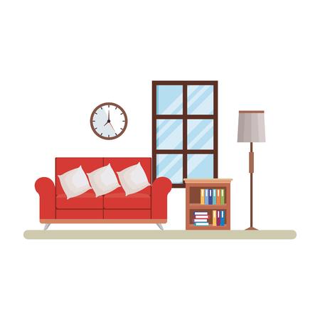 home livingroom place scene vector illustration design Stock Vector - 109896277