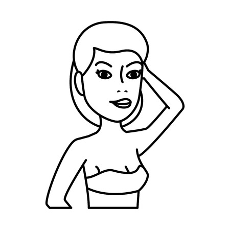 woman in bikini character vector illustration design
