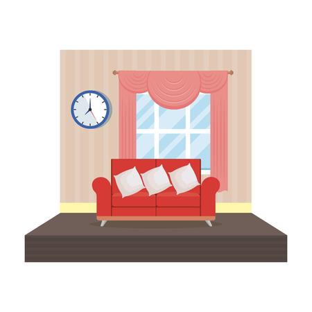 home livingroom place scene vector illustration design Stock Vector - 109896279