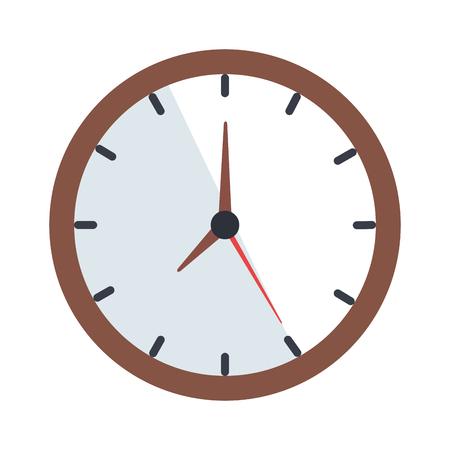 time clock isolated icon vector illustration design Archivio Fotografico - 109890280