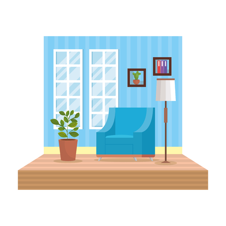 home livingroom place scene vector illustration design Foto de archivo - 109896281