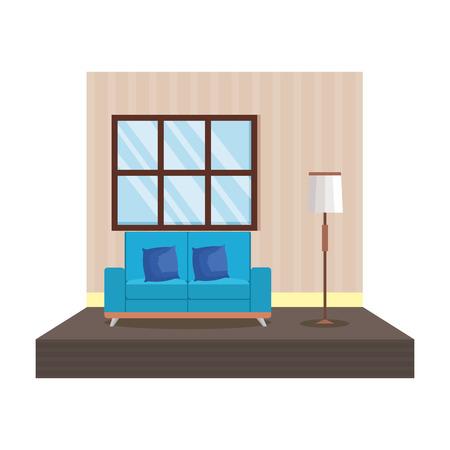 home livingroom place scene vector illustration design Stock Vector - 109896284