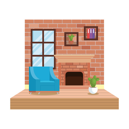 home livingroom place scene vector illustration design Foto de archivo - 109896283