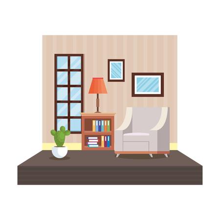 home livingroom place scene vector illustration design Illustration