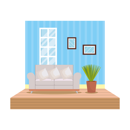 home livingroom place scene vector illustration design Stock Vector - 109896297