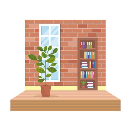 home livingroom place scene vector illustration design Foto de archivo - 109896306