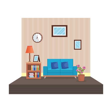 home livingroom place scene vector illustration design Stock Vector - 109896305
