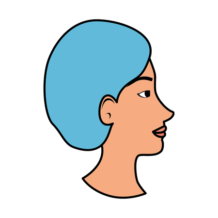 profile of woman with ugly nose and surgery cap vector illustration Archivio Fotografico - 109896312