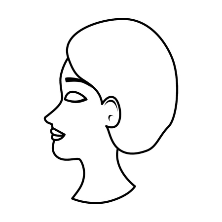 profile of woman with ugly nose and surgery cap vector illustration 스톡 콘텐츠 - 109896338