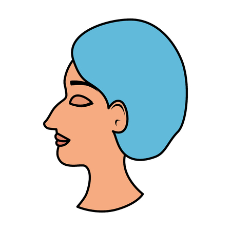 profile of woman with ugly nose and surgery cap vector illustration Archivio Fotografico - 109892636
