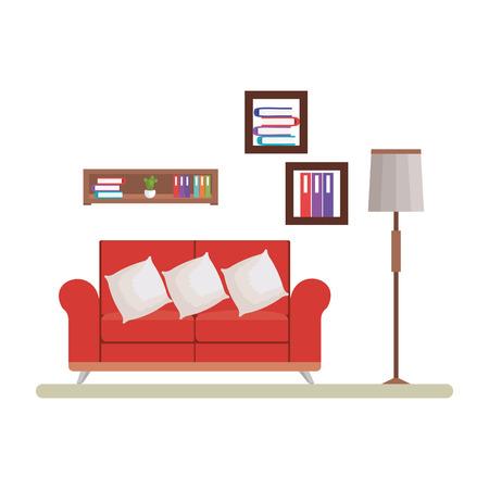 home livingroom place scene vector illustration design Stock Vector - 109896345