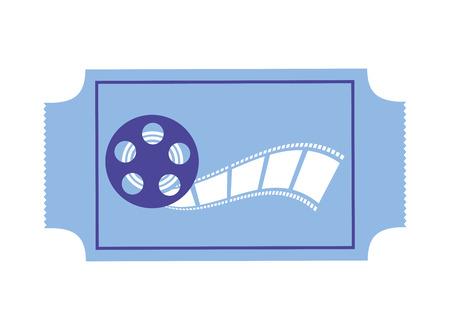 ticket reel strip production movie film vector illustration Illustration