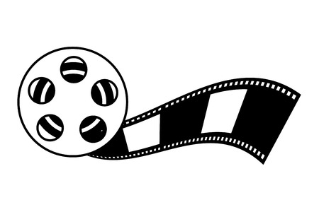 reel strip production movie film vector illustration