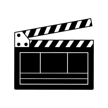 clapperboard production movie film isolated vector illustration