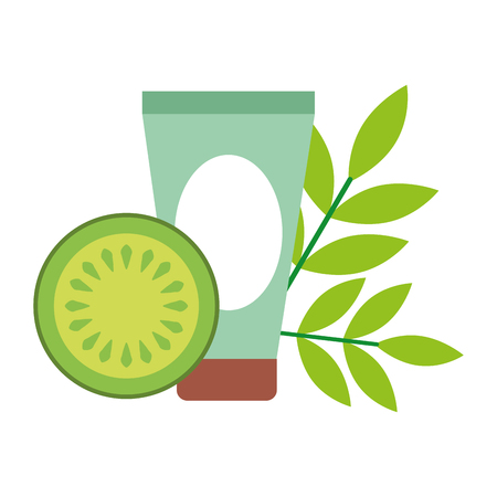 fruit cream skin care spa healthy vector illustration