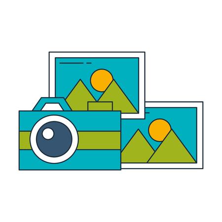 photographic camera photos image album vector illustration  イラスト・ベクター素材