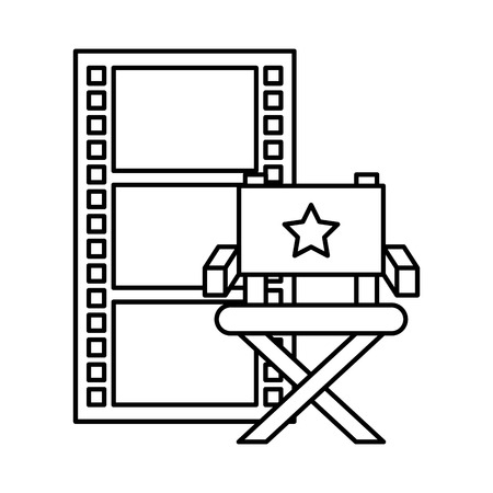strip film chair cinema movie vector illustration Vektorové ilustrace