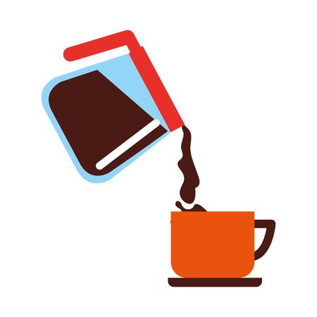 maker koffie hete verse kop vectorillustratie Vector Illustratie