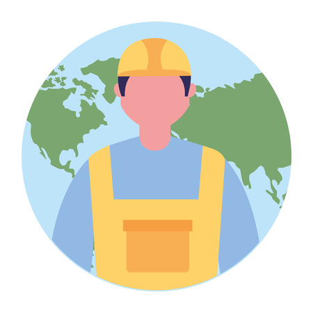builder worker character professional labor vector illustration Stok Fotoğraf - 109954462